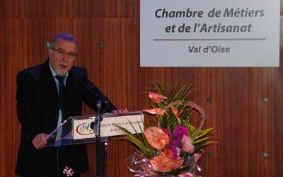 CMA 95 : premiers vœux engagés pour Jean-Louis Orain