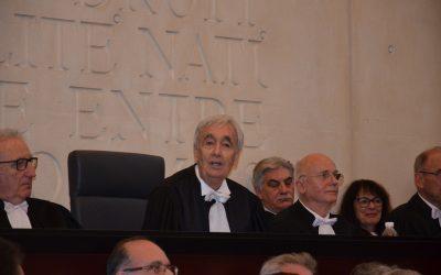Audience solennelle au Tribunal de Commerce
