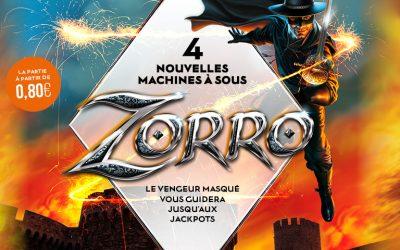 Zorro arrive dans tous les Casinos Barrière !