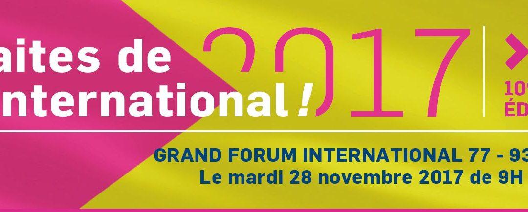Premier Grand Forum de l'Internationalau coeur du Grand Roissy