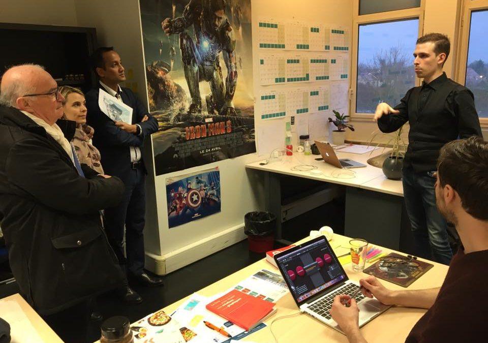 Neuville : Gilles Le Cam à la rencontre des entreprises