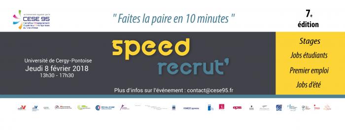 La 7e édition du Speed Recrut débarque à Cergy-Pontoise