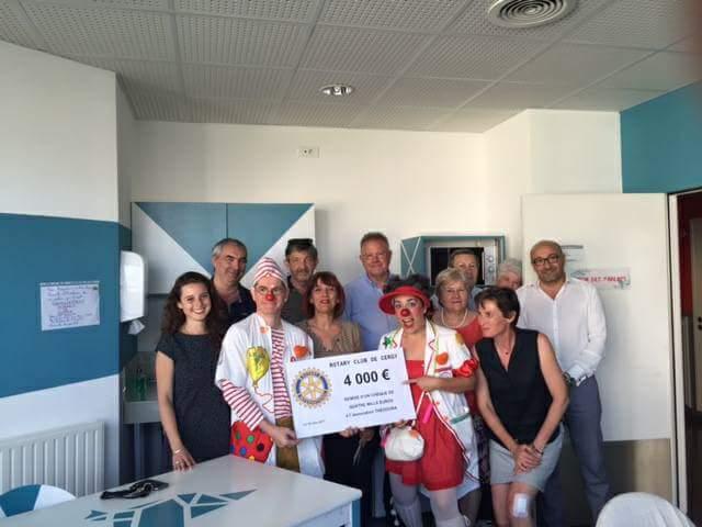 le Rotary de Cergy se mobilise pour les enfants hospitalisés