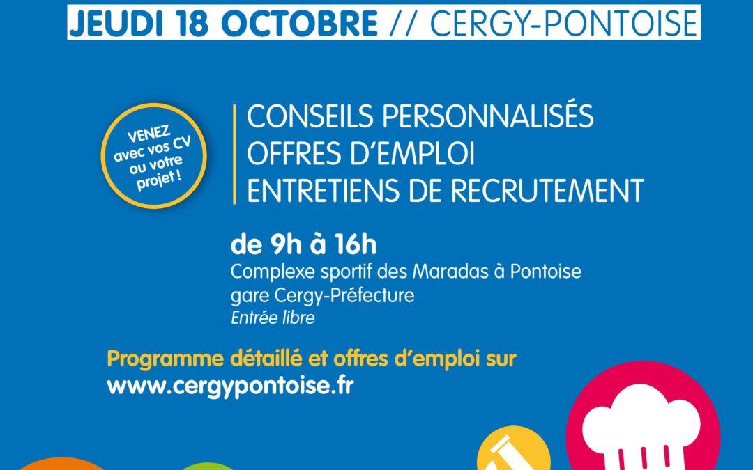 84 entreprises et 800 offres attendent les candidats cergypontains le 18 octobre