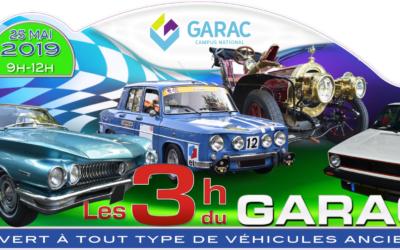 Les 3h du GARAC donnent rendez-vous aux amateurs de voitures anciennes