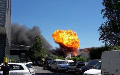 Un incendie se propage chez Cogetrad ce dimanche
