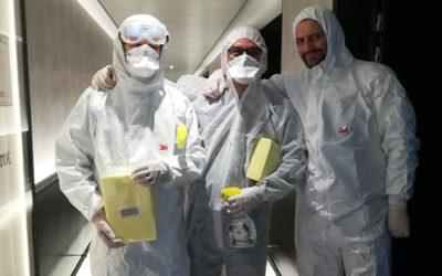 Saturne Services en première ligne pour les opérations de désinfection