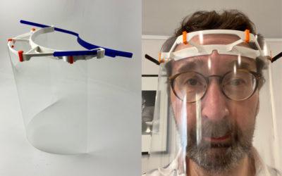 V3D Printing fabrique des visières imprimées en 3D