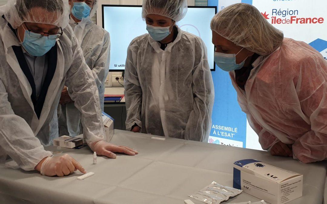 Le laboratoire AAZ conditionne ses tests sérologiques COVID-PRESTO à Villiers le Bel