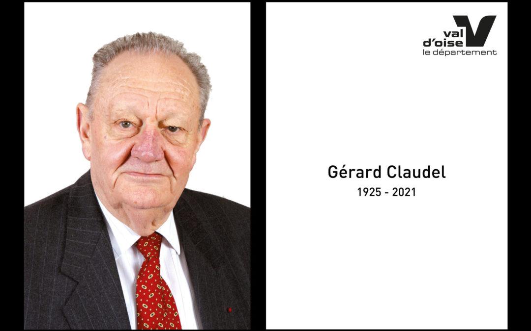 Hommage à Gérard Claudel, fondateur du Parc naturel régional du Vexin